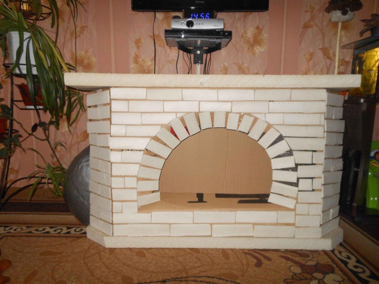 Картонный камин пошаговая инструкция
