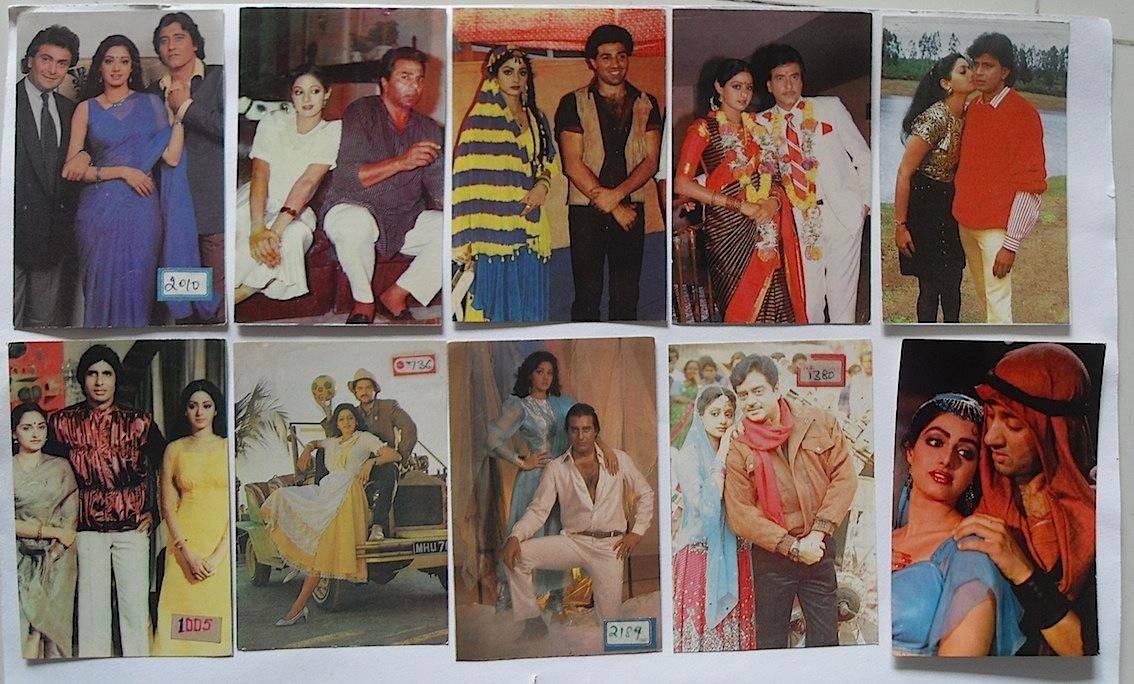 Индийские открытки с актерами 10