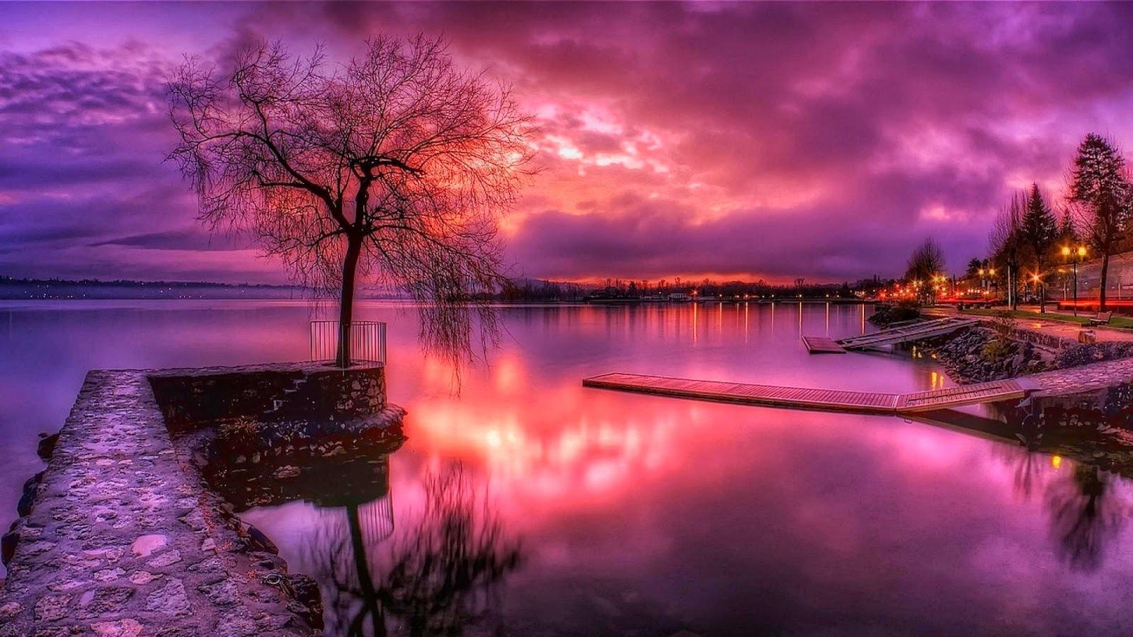 картинки розовый вечер в городе такую